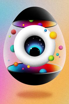 "Established in La Boca is an independent design studio specializing in illustration and image-making of various kinds. La Boca strives to "". Eyeball Images, Vision Art, Communication Art, Typographic Design, Eye Art, Creative Inspiration, Design Inspiration, Beautiful Artwork, Oeuvre D'art"
