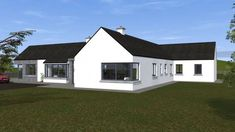 Traditional Large Style Bungalow providing our client with large living spaces, maximizing comfort and practicality. Modern Bungalow House Design, Modern Bungalow Exterior, Small Bungalow, Bungalow House Plans, Bungalow Ideas, Rural House, Square House Plans, Metal House Plans, House Construction Plan