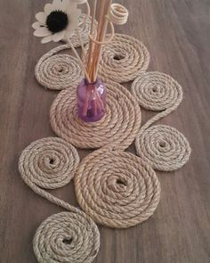 You are in the right place about Disn Jute Crafts, Diy Home Crafts, Diy Craft Projects, Arts And Crafts, Rope Decor, Bag Crochet, Rope Art, Disney Home Decor, Handicraft