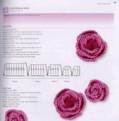 Crochet Rose and tutorials