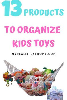 Toy Storage and Organization - Check out these easy toy storage solutions that you can buy on Amazon (or find in your home) #toystorage #toyorganization #toyorganizationideas #organize #dyiorganize #declutter #homeorganization #dyitoystorage #easyorganiza Toy Storage Solutions, Kid Toy Storage, Lego Storage, Storage Ideas, Dyi Organization, Toy Hammock, Getting Organized At Home, Stuffed Animal Storage, Organizing Your Home