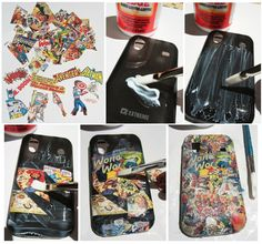 With tourism catalogs! How to: Comic Book Phone Cover - MMGN Blogs