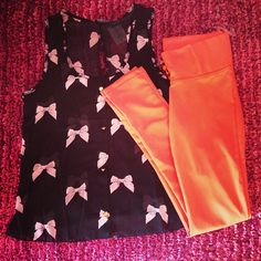 Bow Tank and Leggings