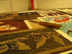 loro coiron_foto6 Butcher Block Cutting Board, Parrot
