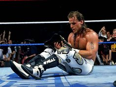 Shawn Michaels is shocked during #Wrestlemania 12.