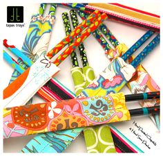 Hand painted chopsticks and hand sewn pouches by Tapas Trays