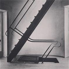 Franco Albini staircase in Formiggini Tower in Somma Lombardo Italy 1958-1963 #francoalbini