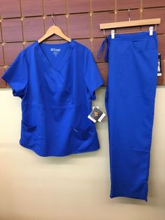 69b9c4d7e20 NEW Grey's Anatomy Royal Blue Solid Scrubs Set With 3XL Top & 3XL Pants NWT  #fashion #clothing #shoes #accessories #uniformsworkclothing #scrubs (ebay  link)