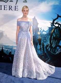 Elle Fanning (in Elie Saab) as Cinderella - Every Magical Time a Celebrity Dressed Like a Disney Princess on the Red Carpet - Photos
