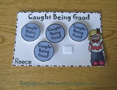 Caught Being Good is a behavior management system that I used in my classroom last year. It's a positive way to reward students good behavior to encourage more of it. Included: Reward Cards Tokens Incentive Charts for all Year Long I have made color, as well as, black and white
