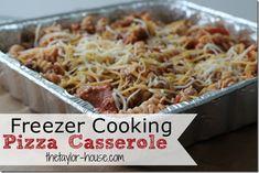 Freezer Cooking: Pizza Casserole #freezer #meals