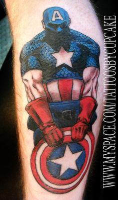 Bildresultat för tattoo captain america