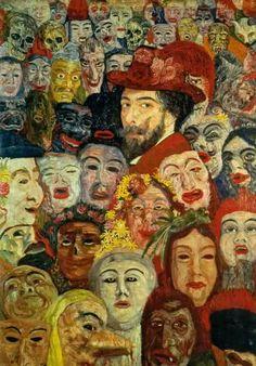James Ensor  Autoportret wśród masek