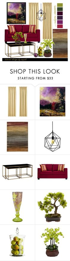 """Indian Summer"" by emjule ❤ liked on Polyvore featuring interior, interiors, interior design, home, home decor, interior decorating, J. Queen New York, Nourison, John Lewis and Daum"