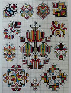 Ukrainian and Romanian embroidery of Bukovyna-Bucovina Folk Embroidery, Cross Stitch Embroidery, Embroidery Patterns, Cross Stitch Designs, Cross Stitch Patterns, Motifs Blackwork, Palestinian Embroidery, Bargello, Cross Stitching