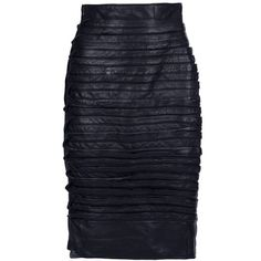 GIANNI VERSACE VINTAGE Pencil skirt ($1,325) found on Polyvore