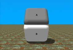 Surface color of both A and B parts is identical. Just use a finger to cover the place where both parts meet and you'll see.