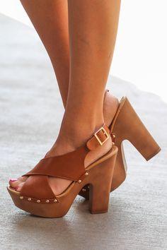NanaMacs Boutique - Fresh Off The Flight In My Chunky Heels (Tan), $42.00 (http://www.nanamacs.com/fresh-off-the-flight-in-my-chunky-heels-tan/)