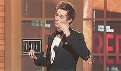 """frankshepard: """" Eddie Redmayne accepting his Tony Award for Best Performance by a Featured Actor in a Play (2010) """""""