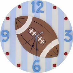 Striped Football Clock | Jack and Jill Boutique
