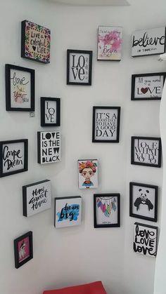 cuadros frases decoración original modernos mayor ilustracio Big Love, Love Is All, Love Days, Gallery Wall, Cricut, Color, Home Decor, Home Decorations, The Originals