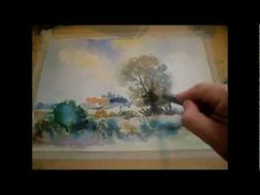 Watercolour Step by Step Wet Into Wet Norfolk Landscape with Sean Terrington