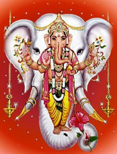 Lord Ganesha - the Hindu deity in a human form but with the head of an elephant - represents the power of the Supreme Being that removes obstacles and ensures success in human endeavors.