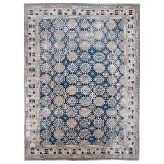 Antique Caucasian Rug | From a unique collection of antique and modern russian and scandinavian rugs at https://www.1stdibs.com/furniture/rugs-carpets/russian-scandinavian-rugs/