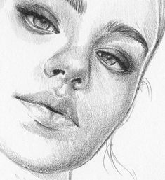 Girl Drawing Sketches, Face Sketch, Portrait Sketches, Art Drawings Sketches Simple, Pencil Art Drawings, Beautiful Drawings, Portrait Art, Portraits, Beautiful Beautiful
