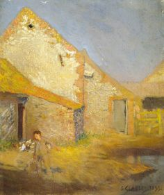 The Athenaeum - A Farmyard (Sir George Clausen, R.A., R.W.S., R.I. - )