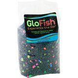 Glofish Aquarium Gravel, Black with Fluorescent Highlights, 5-Pound Bag @ finsfurandfeathers.com