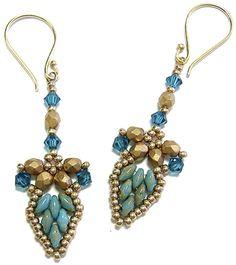 Drop Petal Earrings at Deb Roberti's AroundTheBeadedTable.com