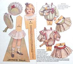 A Vintage Cottage Home: Precious Vintage Paper Dolls for Pink Saturday!
