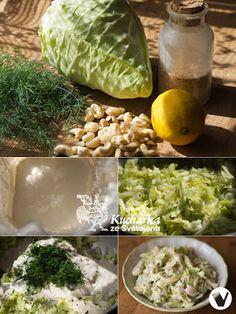 Kuchařka ze Svatojánu: ZELNÝ SALÁT S KEŠU ZÁLIVKOU Vegan Food, Vegan Recipes, Cabbage, Vegetables, Veggie Food, Vegane Rezepte, Vegan Meals, Cabbages, Vegetable Recipes