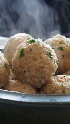 Frische Knödel (Mushroom dumplings)