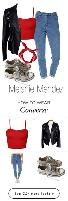 """Melanie Mendez Inspired Outfit"" by demiwitch-of-mischief on Polyvore featuring Wrangler, WearAll, Alexander McQueen, Boohoo and Converse"
