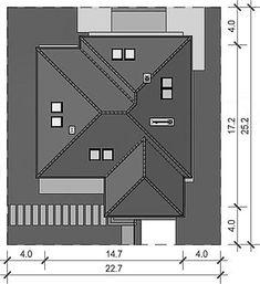 Projekt Domidea 2 d ps 119,87 m2 - koszt budowy - EXTRADOM Bungalow, Ps, Projects, Bungalows, Photo Manipulation