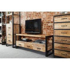 9 Attentive Tips AND Tricks: Industrial Living Room Cozy industrial wood furniture. Industrial Entertainment Center, Industrial Tv Stand, Design Industrial, Vintage Industrial Furniture, Industrial Living, Metal Furniture, Diy Furniture, Furniture Design, Industrial Metal