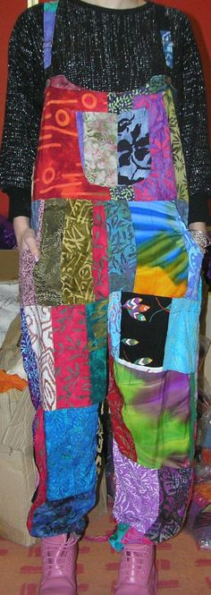 PATCHWORK DUNGAREES- OMG I had some of these back in the day...