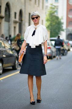 Image result for street style  a line skirt