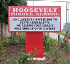 love this school! Way to go Roosevelt Middle School! Teaching Humor, Teaching Quotes, Teaching Ideas, Teaching Time, Teaching Strategies, Teaching Math, Teaching Resources, Roosevelt Middle School, Education Humor