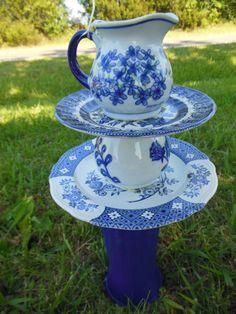 Blue garden totem by LMCsweetdream on Etsy, $35.00