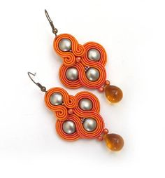 Excited to share the latest addition to my #etsy shop: Orange earrings Ethnic earrings for women Beaded dangle earrings Seed Bead Earrings soutache Jewelry Boho Jewelry birthday gift for sister http://etsy.me/2DKCgJS #soutache #orange #soutacheearrings #sutaszula