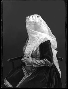 ☫ A Veiled Tale ☫  wedding, artistic and couture veil inspiration - Antoin Sevruguin's Veiled Woman
