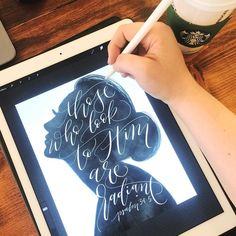 A new collection coming soon and debuting at I need help naming this collection - each piece features a different hand painted silhouette and Bible verses specifically chosen to encourage women (Proverbs Psalm Proverbs Any ideas? Ipad Kunst, Affinity Designer, Ipad Art, Brush Lettering, Modern Calligraphy, Creations, Besties, Hand Painted, Graphic Design