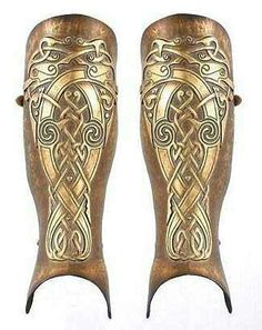 These leg greaves are much like the workmanship of Rohan.