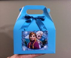 Disney Frozen Elsa Birthday favor Box by FantastikCreations, Frozen Birthday Party, Disney Frozen Party, Frozen Theme Party, 6th Birthday Parties, Birthday Favors, Birthday Ideas, Frozen Decorations, Minions, Party In A Box
