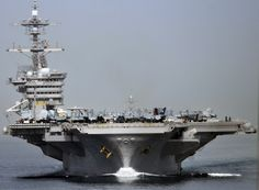 USS Carl Vinson (CVN-70) transits the Strait of Hormuz. (via Official U.S. Navy Imagery)