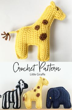 Crochet Hats For Boys, Crochet Baby Toys, Baby Girl Crochet, Crochet Gifts, Crochet Dolls, Free Crochet, Boy Crochet Patterns, Crochet Giraffe Pattern, Baby Patterns