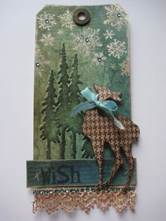 Studio 490: every gift needs a tag... (Or a stag....lol)